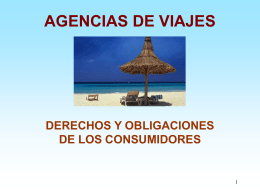 AGENCIAS DE VIAJES DERECHOS Y OBLIGACIONES DE …