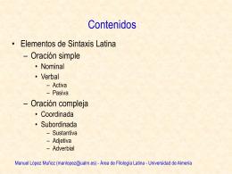 Elementos de Sintaxis Latina