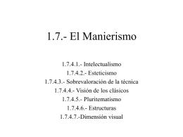 1.7.- El Manierismo