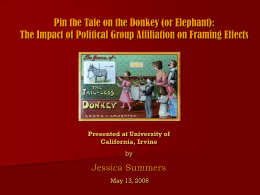 Pin the Tale on the Donkey (or Elephant): The Impact of