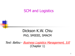 scm. ppt - Department of Computer Science, HKBU
