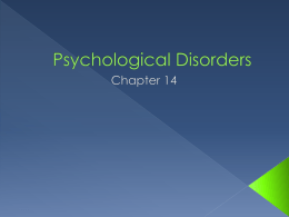Psychological Disorders - Ashton Southard