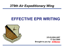 EFFECTIVE EPR WRITING
