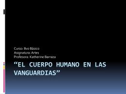 """El cuerpo humano en las vanguardias"""""""