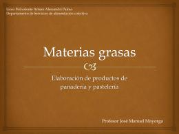 Materias grasas