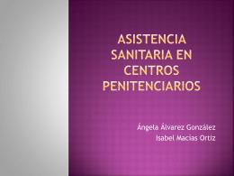 PROGRAMAS DE SALUD EN CENTROS PENITENCIARIOS