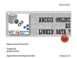 Serving Linked Data on ArcGIS Online
