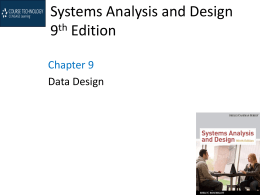 Systems Analysis and Design 9th Edition - MCST-CS