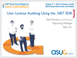 User License Auditing Using the .NET SDK