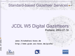 Web Gazetteer Services