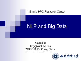NLP and Big Data - University of California, San Diego