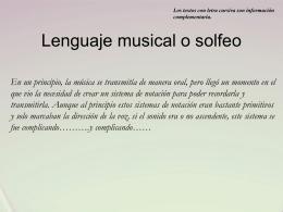 Lenguaje musical o solfeo