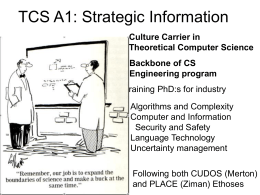 TCS Strategic Information