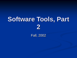 Software Tools, Part 2 Groupware Frameworks