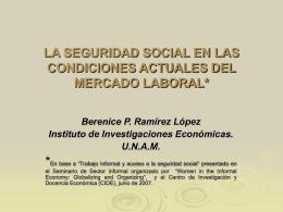 Trabajo Informal y acceso a la seguridad social.