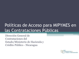 Acceso a las MIPYMES en Nicaragua