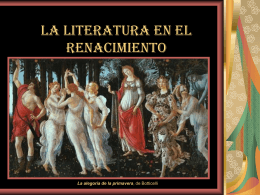 LA LITERATURA DEL SIGLO XVI