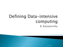 Defining Data-intensive computing