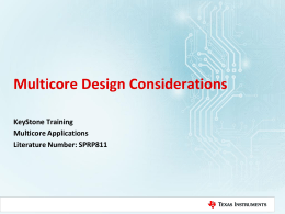 Multicore Design Considerations - keystone