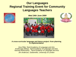 Our Languages Regional Training Event for Community