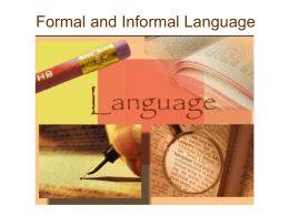 Formal and Informal Language - Home