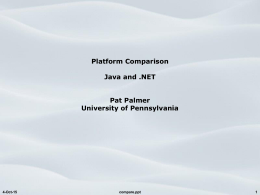 Platform Comparison, Java and .NET