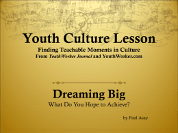 Youth Culture Lesson Finding Teachable Moments in …
