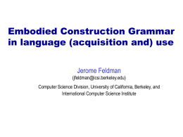 Grounded Learning of Grammatical Constructions