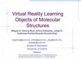 Virtual Reality Learning Objects of Molecular Structures