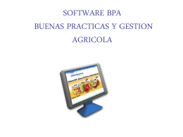SOFTWARE REGISTROS BPA Y GESTION AGRICOLA