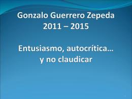 Gonzalo Guerrero Zepeda 2011