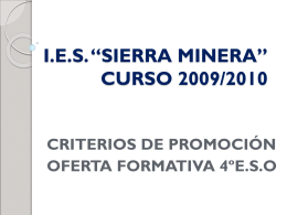 "I.E.S. ""SIERRA MINERA"" CURSO 2008/2009"