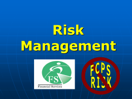 Risk Management - Fairfax County Public Schools
