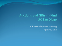 UCSD Gift Processing