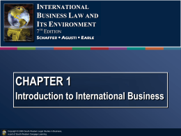 Schaffer International Business Law 7e 2009