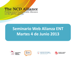 Global NCD Framework Update