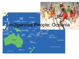 Indigenous People: Oceania