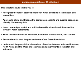 Monsoon Asia Overview