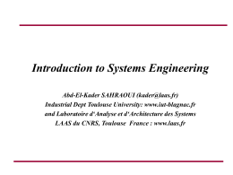Requirements Engineering Course contents and …