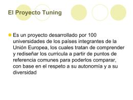 El Proyecto Tuning