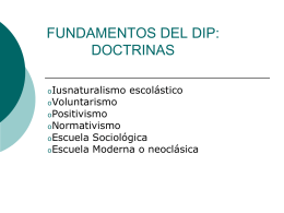 FUNDAMENTOS DEL DIP: DOCTRINAS