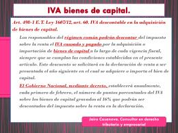 IVA bienes de capital. D.R. 2975 de 2013