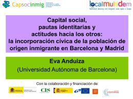 Capital social, pautas identitarias y actitudes hacia los