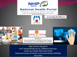 Centre for Health Informatics National Institute of Health
