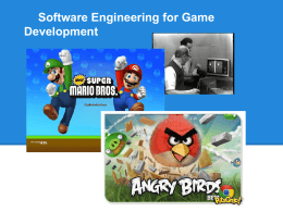 Software Engineering for Game Development