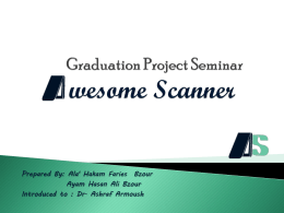 Graduation Project Seminar Awesome Scanner