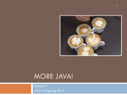 Java Review - Cornell University