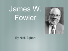 James W. Fowler - Adult Education Portfolio