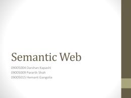 Semantic Web - CSE, IIT Bombay