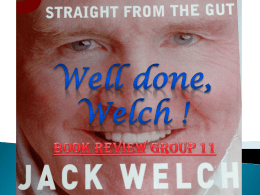 Well done, Welch!